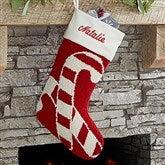 Candy Cane Personalized Hooked Stocking - 17144-C