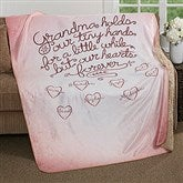 Grandchildren Fill Our Hearts Personalized Premium Sherpa Blanket - 17149