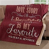 Love Story Personalized Premium Sherpa Blanket - 17154