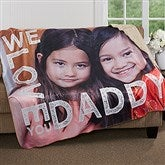 Loving Him Personalized Premium 50x60 Sherpa Blanket - 17157