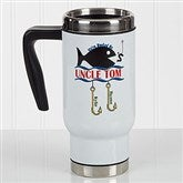 Hooked On You Personalized Commuter Travel Mug - 17165