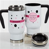 Sweet & Sassy Personalized Commuter Travel Mug - 17177