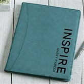 Bold Style Personalized Full Pad Portfolio-Teal - 17183-T
