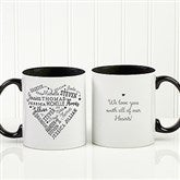 Close To Her Heart Personalized Coffee Mug 11oz.- Black - 17195-B
