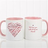 Close To Her Heart Personalized Coffee Mug 11 oz.- Pink - 17195-P