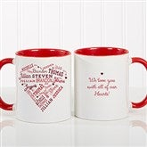 Close To Her Heart Personalized Coffee Mug 11 oz.- Red - 17195-R