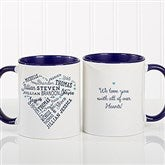 Close To Her Heart Personalized Coffee Mug 11 oz.- Blue - 17195-BL