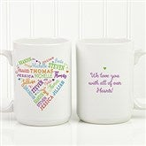 Close To Her Heart Personalized Coffee Mug 15 oz.- White - 17195-L