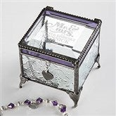 The Happy Couple Vintage Engraved Jewelry Box - 17214