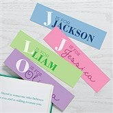 Alphabet Fun Personalized Paper Bookmarks Set of 4 - 17220