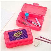 Super Hero Personalized Pencil Box - Pink - 17222-P