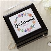 Floral Wreath Personalized Bridal Jewelry Box - 17224