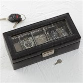 Special Dates Leather 5 Slot Personalized Watch Box - 17233