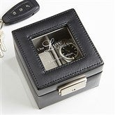 A Time For Love Leather 2 Slot Watch Box - 17234