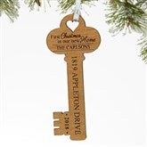 New Home Personalized Key Ornament - 17235