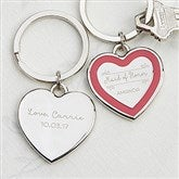 Personalized Bridesmaid Heart Key Ring - 17241