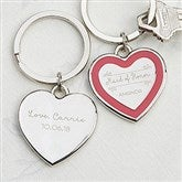 Personalized Bridesmaid Heart Keychain - 17241