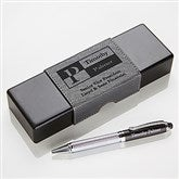 Sophisticated Style Personalized IT Pen Case and Stylus Pen Set - 17248