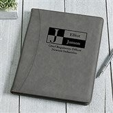 Sophisticated Style Personalized Full Size Portfolio - Charcoal - 17249-C