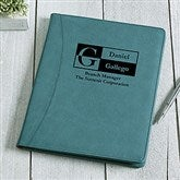 Sophisticated Style Personalized Full Size Portfolio - Teal - 17249-T
