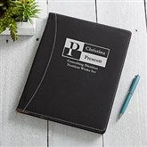 Sophisticated Style Personalized Full Size Portfolio - Black - 17249-B