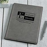 Sophisticated Style Personalized Junior Padfolio - Charcoal - 17250-C