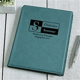 Sophisticated Style Personalized Junior Padfolio - Teal - 17250-T