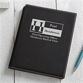 Sophisticated Style Personalized Junior Padfolio - Black - 17250-B
