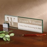 Sophisticated Style Personalized Glass Name Plate - 17252