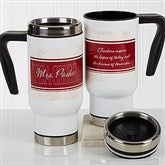 Inspiring Teacher Personalized Commuter Travel Mug - 17255