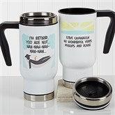 I'm Retired Personalized Retirement Commuter Travel Mug - 17256