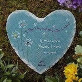 A Mom's Hug Personalized Heart Garden Stone - 17275