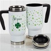 Irish Clover Personalized Commuter Travel Mug - 17280