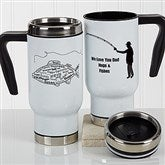 What A Catch! Personalized Travel Mug - 17286