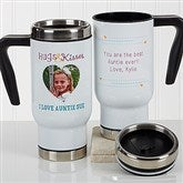 Hugs & Kisses Personalized Photo Commuter Travel Mug - 17294