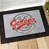 His Garage Rules Personalized Doormat- 18x27 - 17296