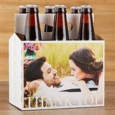 Thank You Wedding Photo Personalized Bottle Carrier - 17297-C