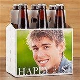 Happy Birthday Photo Personalized 6pc Carrier- 6 pack Carrier - 17298-C