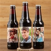 Happy Birthday Photo Personalized Beer Bottle Labels- Set of 6 - 17298-L