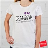 Grandma Established Personalized Ladies Fitted Tee - 17305-FT