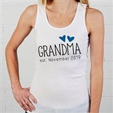 Grandma Established Personalized White Tank - 17305-WT