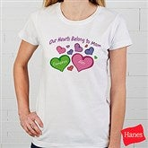 My Heart Belongs To Personalized Ladies Fitted Tee - 17306-FT