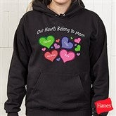 My Heart Belongs To Personalized Black Hooded Sweatshirt - 17306-BHS