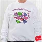 My Heart Belongs To Personalized White Sweatshirt - 17306-WS