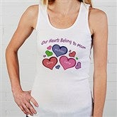 My Heart Belongs To Personalized White Tank - 17306-WT