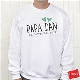 Grandpa Established Personalized Hanes®Sweatshirt - 17307-WS