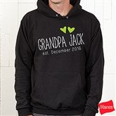 Grandpa Established Personalized Hanes® Hooded Sweatshirt - 17307-BHS