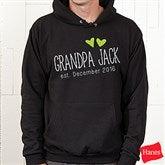 Grandpa Established Personalized Hanes® Hooded Sweatshirt - 17307-BHS