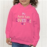 You Are Loved Personalized Toddler Hooded Sweatshirt - 17314-CTHS