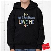 You Are Loved Personalized Hanes® Youth Hooded Sweatshirt - 17314-YHS